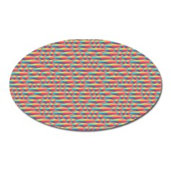 Background Abstract Colorful Oval Magnet
