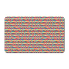 Background Abstract Colorful Magnet (Rectangular)