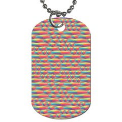 Background Abstract Colorful Dog Tag (One Side)