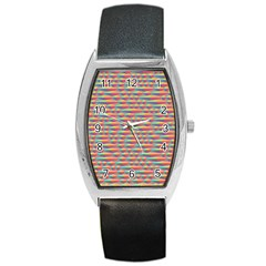Background Abstract Colorful Barrel Style Metal Watch