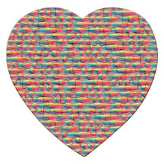 Background Abstract Colorful Jigsaw Puzzle (heart)