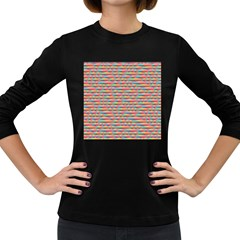 Background Abstract Colorful Women s Long Sleeve Dark T Shirts