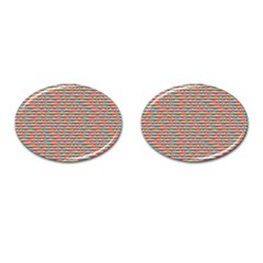 Background Abstract Colorful Cufflinks (Oval)