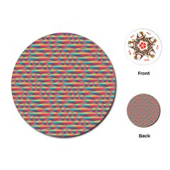 Background Abstract Colorful Playing Cards (round)