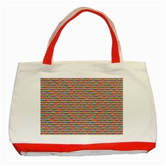 Background Abstract Colorful Classic Tote Bag (red)