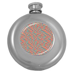 Background Abstract Colorful Round Hip Flask (5 Oz)