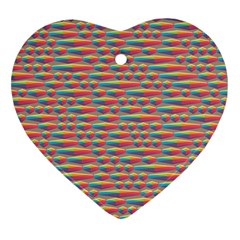 Background Abstract Colorful Heart Ornament (Two Sides)