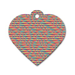 Background Abstract Colorful Dog Tag Heart (one Side)