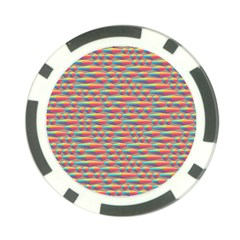 Background Abstract Colorful Poker Chip Card Guard (10 pack)