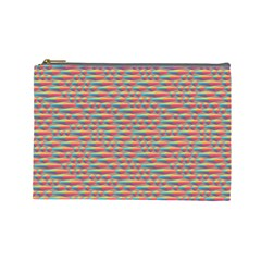 Background Abstract Colorful Cosmetic Bag (Large)