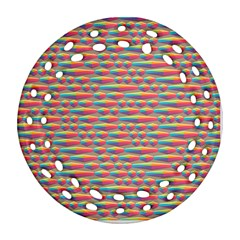 Background Abstract Colorful Round Filigree Ornament (two Sides)