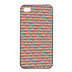 Background Abstract Colorful Apple Iphone 4/4s Seamless Case (black)