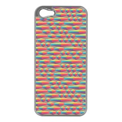 Background Abstract Colorful Apple Iphone 5 Case (silver)