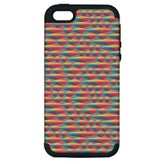 Background Abstract Colorful Apple iPhone 5 Hardshell Case (PC+Silicone)