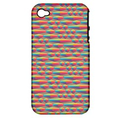 Background Abstract Colorful Apple Iphone 4/4s Hardshell Case (pc+silicone)