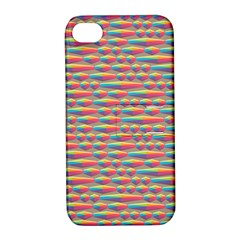 Background Abstract Colorful Apple Iphone 4/4s Hardshell Case With Stand