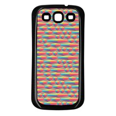 Background Abstract Colorful Samsung Galaxy S3 Back Case (Black)