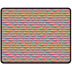 Background Abstract Colorful Double Sided Fleece Blanket (Medium)