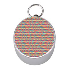 Background Abstract Colorful Mini Silver Compasses
