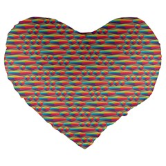 Background Abstract Colorful Large 19  Premium Flano Heart Shape Cushions