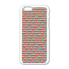 Background Abstract Colorful Apple Iphone 6/6s White Enamel Case