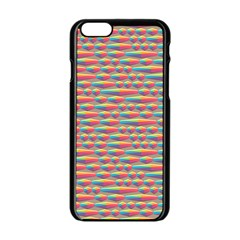 Background Abstract Colorful Apple Iphone 6/6s Black Enamel Case