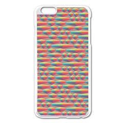 Background Abstract Colorful Apple Iphone 6 Plus/6s Plus Enamel White Case