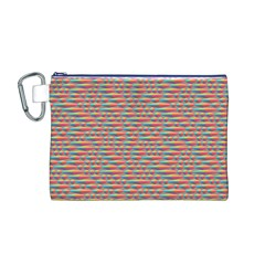 Background Abstract Colorful Canvas Cosmetic Bag (m)