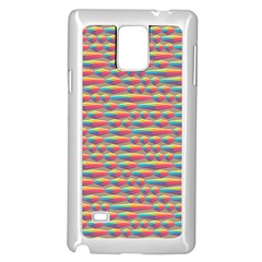 Background Abstract Colorful Samsung Galaxy Note 4 Case (white)