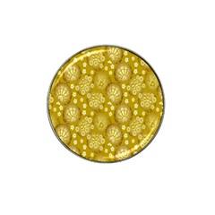 Flower Arrangements Season Gold Hat Clip Ball Marker (4 Pack)