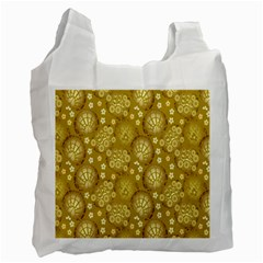 Flower Arrangements Season Gold Recycle Bag (Two Side)