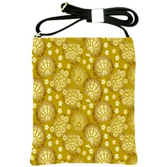 Flower Arrangements Season Gold Shoulder Sling Bags