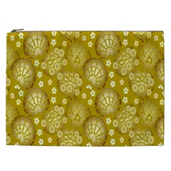 Flower Arrangements Season Gold Cosmetic Bag (xxl)