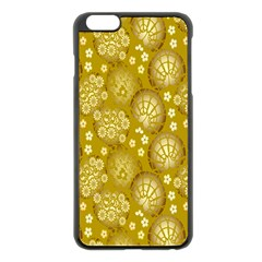 Flower Arrangements Season Gold Apple iPhone 6 Plus/6S Plus Black Enamel Case