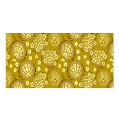 Flower Arrangements Season Gold Satin Shawl