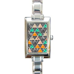 Abstract Geometric Triangle Shape Rectangle Italian Charm Watch