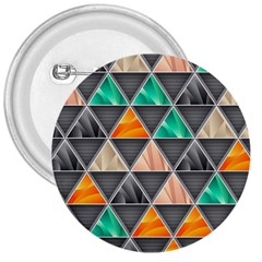 Abstract Geometric Triangle Shape 3  Buttons