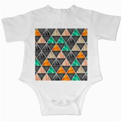 Abstract Geometric Triangle Shape Infant Creepers