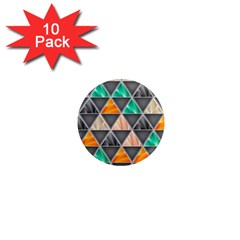 Abstract Geometric Triangle Shape 1  Mini Magnet (10 Pack)