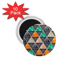 Abstract Geometric Triangle Shape 1 75  Magnets (10 Pack)