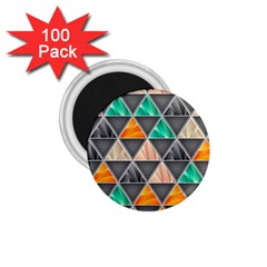 Abstract Geometric Triangle Shape 1 75  Magnets (100 Pack)