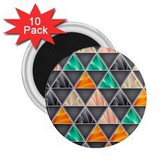 Abstract Geometric Triangle Shape 2 25  Magnets (10 Pack)