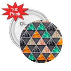 Abstract Geometric Triangle Shape 2 25  Buttons (100 Pack)