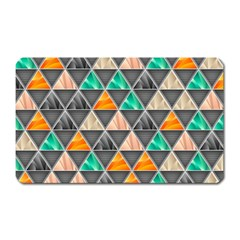 Abstract Geometric Triangle Shape Magnet (rectangular)