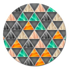Abstract Geometric Triangle Shape Magnet 5  (round)