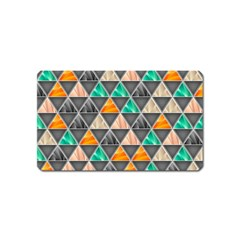Abstract Geometric Triangle Shape Magnet (name Card)