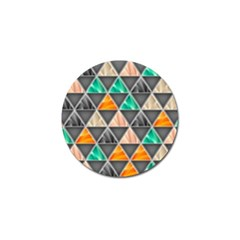 Abstract Geometric Triangle Shape Golf Ball Marker (4 Pack)
