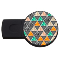 Abstract Geometric Triangle Shape USB Flash Drive Round (2 GB)
