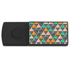 Abstract Geometric Triangle Shape USB Flash Drive Rectangular (2 GB)