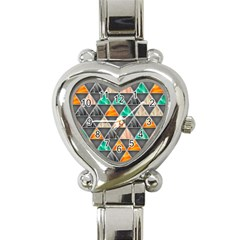 Abstract Geometric Triangle Shape Heart Italian Charm Watch